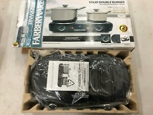 NEW Hot Plate Double Burner Farberware Electric Portable Countertop Stove
