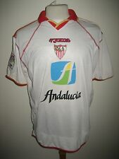 Sevilla MATCH WORN Spain football shirt soccer jersey trikot camiseta size L