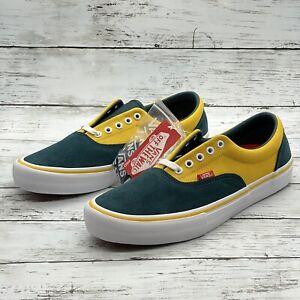 Vans Era Pro Prime Atlantic/Gold Men's Classic Skate Shoes Sneakers Size 11 NEW