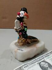 Ron Lee Clown Figure Kneeling and Praying on a Marble Base