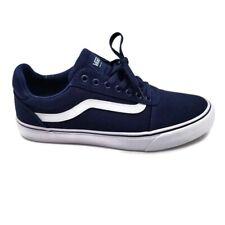 Vans Men's Ward Deluxe Blue/White Prem T&L Skate Shoes-Size 11