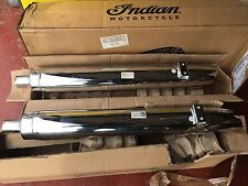 2014 + Indian Chief Motorcycle Left & Right Standard Exhaust Nearly New!