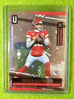 PATRICK MAHOMES PRIZM CARD JERSEY #15 CHIEFS REFRACTOR  2019 Unparalleled COSMOS