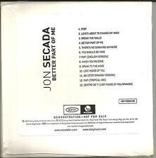 JON SECADA Better Part of me SEALED CARD SLEEVE ADVNCE PROMO DJ CD 2000