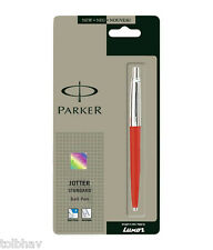 Parker Jotter Standard CT Ball Point Pen BP (Blue Ink & Red Body) Fine Nib New