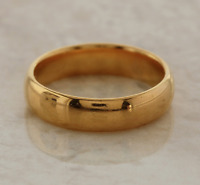 Vintage Wedding Band Ring 22ct Yellow Gold Size N 1/2