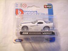 Voiture miniature Dodge Viper 2008 blanche de marque Burago 1/64 neuve emballée