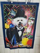 Willabee & Ward Bichon Frises Wall Hanging Dog Birthday New Year Flag banner  b8