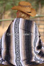 Southwestern, Mexican Beach Blanket, Falsa, Baja,Yoga, Tan, White and Grayish