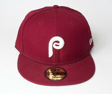New Era 59Fifty Philadelphia Phillies Maroon Fitted Hat Size 7 1/2