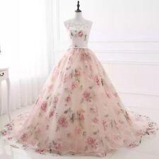 Long Floral Pink Flower Dress