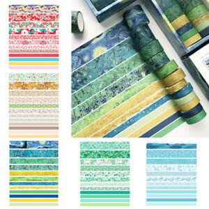 12Roll Washi Tape Decorative Scrapbooking Paper Adhesive Sticker Craft DIY Decor