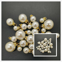 DIY 8-16MM Acrylic Pearl Pendant Beads Charm Earrings Ornaments Jewelry Making
