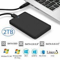 2TB Externe Festplatte Tragbare 1TB USB3.0 SATA HDD Memory Drive für PC Laptop N