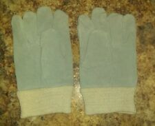 🔥 Small Garden Work Gloves Leather palm Cotton New Other Never Used Gray LG kid
