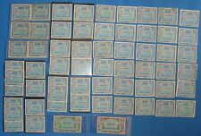 *Japan Military Currency 1945 Ten Sen, Fifty Sen & Other Notes - Big Lot!*