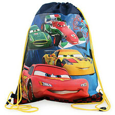 6 DISNEY CARS MCQUEEN Kids Sling Bag Drawstring Backpack BIRTHDAY PARTY FAVORS