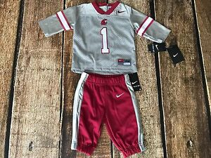 NIKE WASHINGTON STATE COUGERS 2 PIECE JERSEY PANT SET BABY INFANT SIZE 3-6 MONTH