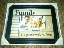 """Frame """"Family Is A Patchwork Of Love"""" Picture Frame 4"""" X 6"""" ~ great for quilters"""