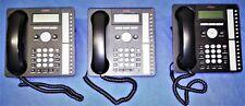 SET OF 3 LIGHTLY USED AVAYA 1616 IP DISPLAY PHONES, MODEL# 700415565