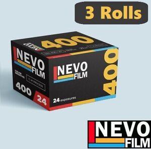 3 Rolls - NEVO FILM 400 ISO 24exp 35mm 135 Color Negative Film