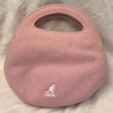 pink KANGOL hand purse day clutch travel outfit match gear