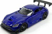 Motormax 1/24 ,  Mercedes-AMG GT GT3, Blue  Classic Metal Model Car