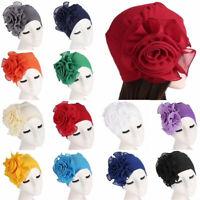 【SALE】Women Lot Hair Loss Head Scarf Turban Cap Flower Muslim Cancer Chemo Hat