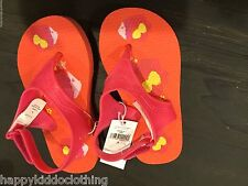 Girls - BABY GAP pink Jelly Jellies Sandals Shoes size 9 fish  new flip flop