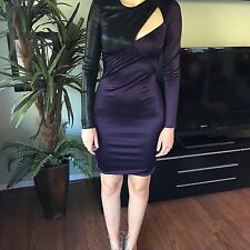 NEW VERSACE RUNWAY Cutout Bodycon Liquid Jersey Dress Gown 38 4 SO SEXY!STUNNING