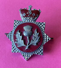 More details for an old original rare,  scottish fire service college, cap badge.