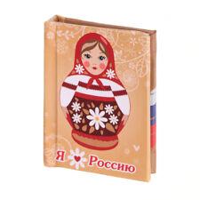 """Mini 2,5"""" Book Russia Matryoshka Russland Russisch Buch Magnet Souvenir Gift"""