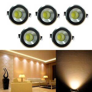 5 Pcs 3W LED Spot de Plafond Mini Spot Encastrable Plafonnier Lampe Chambre 220V