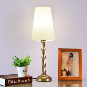Table Lamp with Shade Bedside Side Table Light Living room Decor
