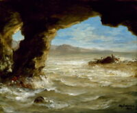 Eugene Delacroix Shipwreck on the Coast Giclee Canvas Print Paintings Poster