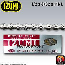 Izumi Chain Chrome 1/2 x 3/32 x 116 Links Old School BMX / Track