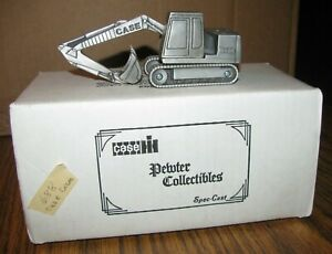 Case 688 Crawler Excavator Pewter Toy 1:43 Spec Cast Collectible ZJD30 LtEd 1988