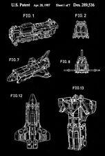 1987 - Astrotrain - Triple Changers - Transformers Robot - Patent Art Poster