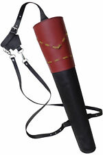 NEW TRADITIONAL FINE LEATHER BACK ARROW QUIVER ARCHERY PRODUCTS AQ133.