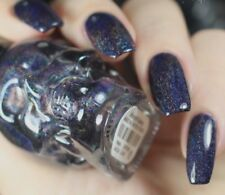 Blackheart MIDNIGHT GALAXY Black Holographic Nail Polish Skull Black Heart .40oz