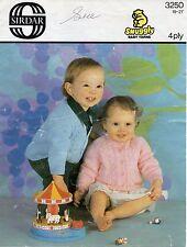 "Sirdar 3250 Vintage Baby Knitting Pattern Cardigans 4 ply 19-21"" 6 - 18 months"