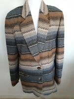 Hugo Buscati Milano Suit Jacket Blazer Size 4 Wool Blend Multi Color One Button