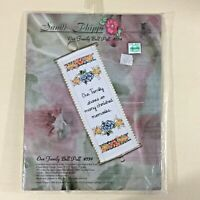 Our Family Bell Pull cross stitch kit 534 Sandi Phipps cherished memories new