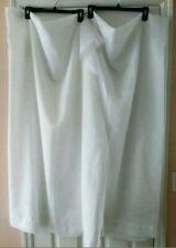 Set Of 2 Sheer Rod Pocket Window Curtain Panels-White-Size 104x60