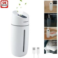 Portable Mini Humidifier Car Home USB LED Lamp Aroma Nano Diffuser Mist Purifier