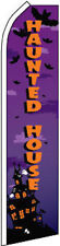 "2 x ""HAUNTED HOUSE"" super flags swooper two halloween bat"
