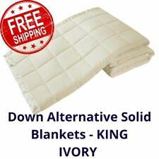 Down Alternative Microfiber Throw Blanket Summer Bedding New  - KING - IVORY