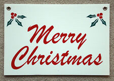 MERRY CHRISTMAS Coroplast SIGN with Grommets  12x18