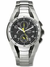 Seiko Men's SNA473 Alarm Chronograph Stainless Steel Watch new in box