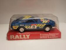 1970's Lucky Toys plastic friction driven Datsun Rally Car Shop Stock
